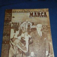 (M21) MARCA NUM 759 MADRID 1957 - FC BARCELONA 1 - RCD ESPAÑOL 0 FINAL DE LA COPA DEL GENERALISIMO
