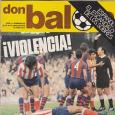 Coleccionismo deportivo: REVISTA DON BALON.N 56.DIARTE.REPORTAJE A COLOR DE LEIVINHA AT.MADRID.. Lote 107609111