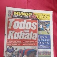 Coleccionismo deportivo: MUNDO DEPORTIVO. Nº 25.496. 19 DE MAYO 2002. TODOS CON KUBALA.. Lote 107693059