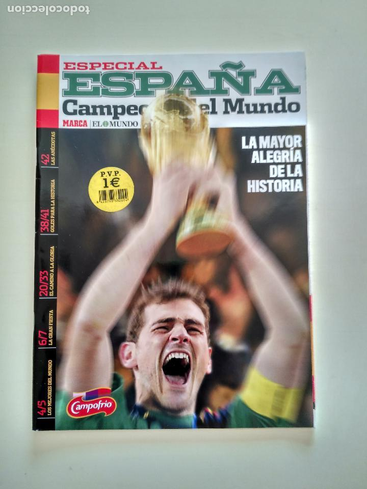ESPECIAL MARCA ESPAÑA CAMPERONES DEL MUNDO 2010 LA ROJA (Coleccionismo Deportivo - Revistas y Periódicos - Marca)