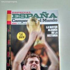 Coleccionismo deportivo: ESPECIAL MARCA ESPAÑA CAMPERONES DEL MUNDO 2010 LA ROJA. Lote 107725091