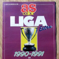 Coleccionismo deportivo: AS COLOR EXTRA GUIA LIGA 1990-91 Nº 238 POSTER REAL MADRID PLANTILLA. Lote 107782795