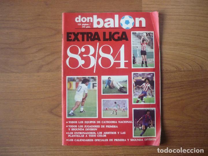 REVISTA FUTBOL DON BALON EXTRA LIGA 83 84 CON 124 PAGINAS - TEMPORADA 1983 1984 (Coleccionismo Deportivo - Revistas y Periódicos - Don Balón)
