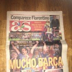 Coleccionismo deportivo: AS 14 MAYO 2009 BARÇA CAMPEÓN COPA DEL REY ATHLETIC BILBAO. Lote 107847334