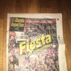 Coleccionismo deportivo: MUNDO DEPORTIVO 20 ABRIL 1998 BARÇA CAMPEÓN LIGA FIESTA FC BARCELONA. Lote 107847823