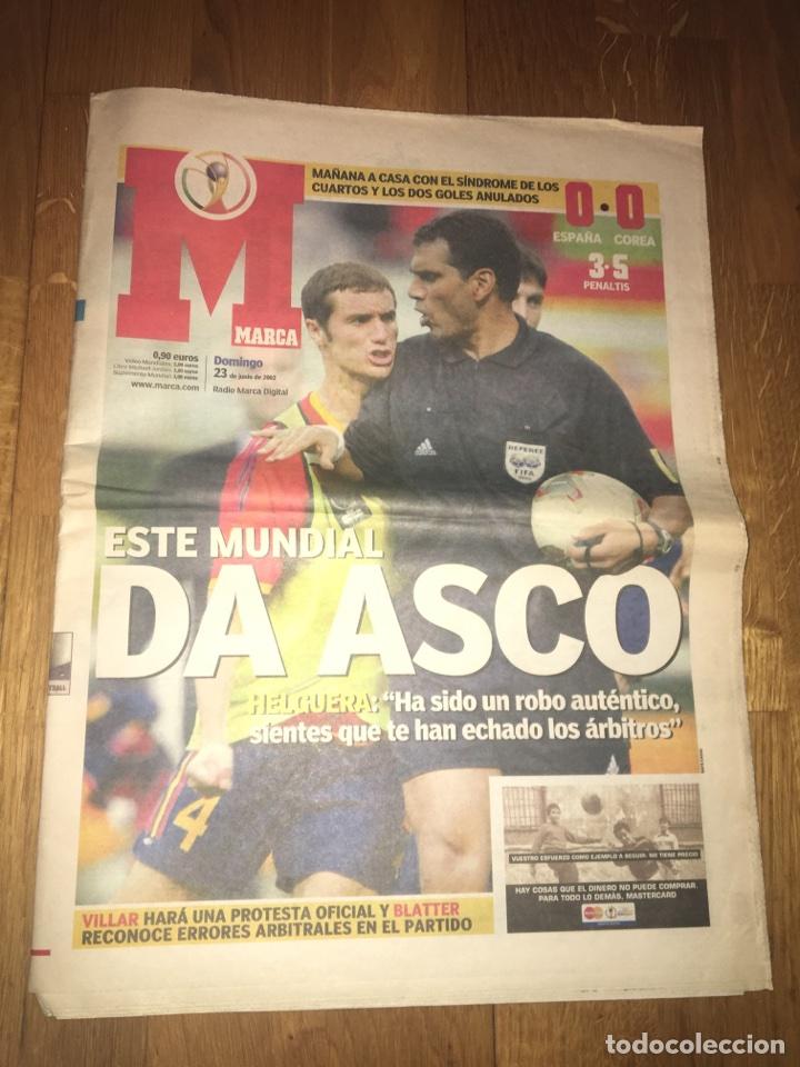 MARCA 23 JUNIO 2002 ESPAÑA COREA PENALTIS 3-5 MUNDIAL DA ASCO (Coleccionismo Deportivo - Revistas y Periódicos - Marca)