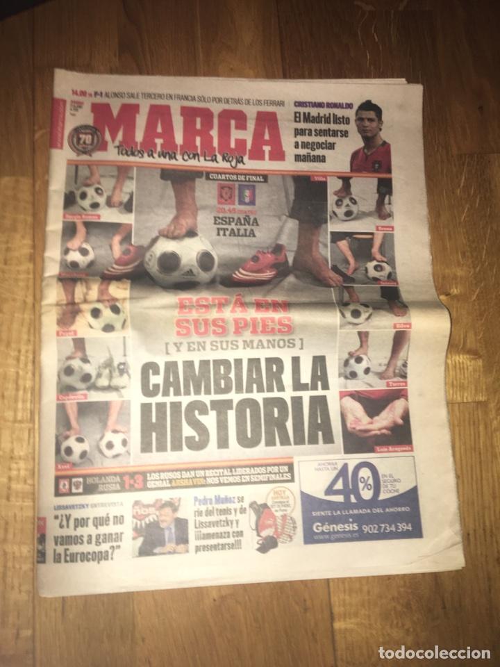 MARCA 22 JUNIO 2008 CUARTOS FINAL EUROCOPA ESPAÑA ITALIA SELECCIÓN ESPAÑOLA (Coleccionismo Deportivo - Revistas y Periódicos - Marca)