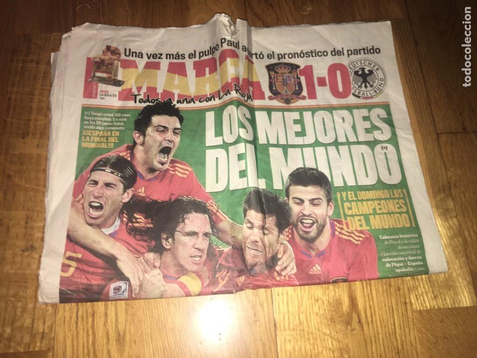 MARCA 8 JULIO 2010 ESPAÑA 1 ALEMANIA 0 SELECCIÓN ESPAÑOLA MUNDIAL GOL PUYOL (Coleccionismo Deportivo - Revistas y Periódicos - Marca)