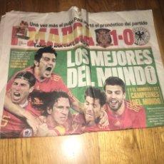 Coleccionismo deportivo: MARCA 8 JULIO 2010 ESPAÑA 1 ALEMANIA 0 SELECCIÓN ESPAÑOLA MUNDIAL GOL PUYOL. Lote 107861290