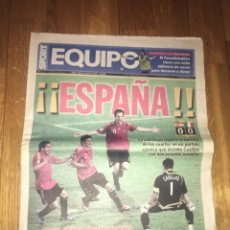 Colecionismo desportivo: EQUIPO SPORT 23 JUNIO 2008 ESPAÑA 0 ITALIA 0 CUARTOS FINAL EUROCOPA 2008 SELECCIÓN ESPAÑOLA CASILLAS. Lote 107861792