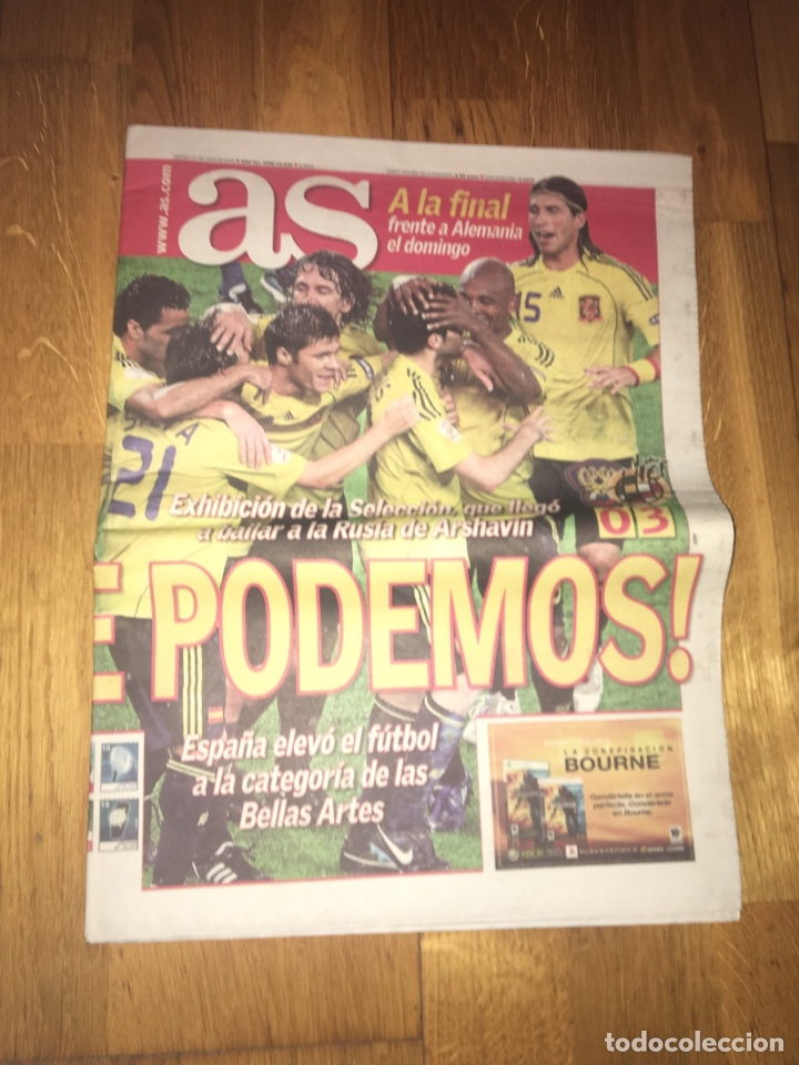 AS 27 JUNIO 2008 SEMIFINAL EUROCOPA 2008 ESPAÑA 3 RUSIA 0 SELECCIÓN ESPAÑOLA (Coleccionismo Deportivo - Revistas y Periódicos - As)