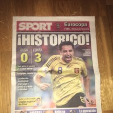 Coleccionismo deportivo: SPORT 27 JUNIO 2008 ESPAÑA 3 RUSIA 0 EUROCOPA 2008 SELECCIÓN ESPAÑOLA. Lote 107862262