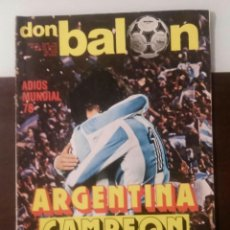 Coleccionismo deportivo: DON BALON 142 1978 MUY BUEN ESTADO. Lote 107868155