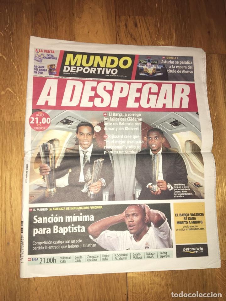 MUNDO DEPORTIVO 21 SEPTIEMBRE 2005 FC BARCELONA ETO'O RONALDINHO BARÇA (Coleccionismo Deportivo - Revistas y Periódicos - Mundo Deportivo)