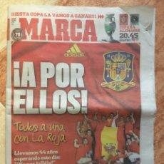 Coleccionismo deportivo: DIARIO MARCA EUROCOPA 2008 (ALEMANIA) SELECCIÓN ESPAÑOLA CAMPEONA PREVIA FINAL - 28 JUNIO 2008. Lote 107983963