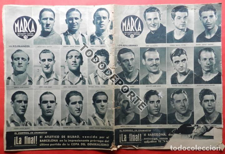 SEMANARIO MARCA FC BARCELONA CAMPEON COPA DEL GENERALISIMO 1942 - ATHLETIC CLUB BILBAO BARÇA 42 (Coleccionismo Deportivo - Revistas y Periódicos - Marca)