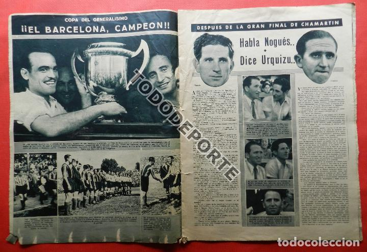 Coleccionismo deportivo: SEMANARIO MARCA FC BARCELONA CAMPEON COPA DEL GENERALISIMO 1942 - ATHLETIC CLUB BILBAO BARÇA 42 - Foto 6 - 108011923