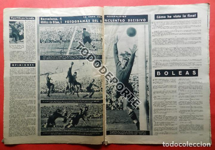 Coleccionismo deportivo: SEMANARIO MARCA FC BARCELONA CAMPEON COPA DEL GENERALISIMO 1942 - ATHLETIC CLUB BILBAO BARÇA 42 - Foto 7 - 108011923