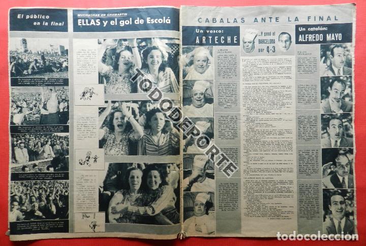 Coleccionismo deportivo: SEMANARIO MARCA FC BARCELONA CAMPEON COPA DEL GENERALISIMO 1942 - ATHLETIC CLUB BILBAO BARÇA 42 - Foto 8 - 108011923