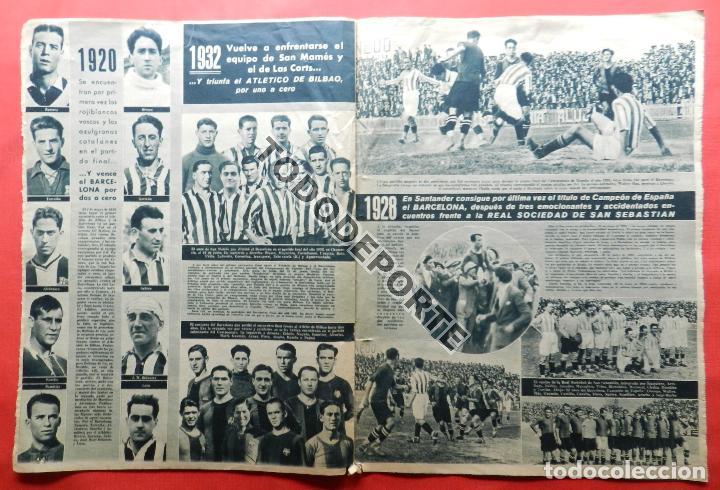 Coleccionismo deportivo: SEMANARIO MARCA FC BARCELONA CAMPEON COPA DEL GENERALISIMO 1942 - ATHLETIC CLUB BILBAO BARÇA 42 - Foto 10 - 108011923