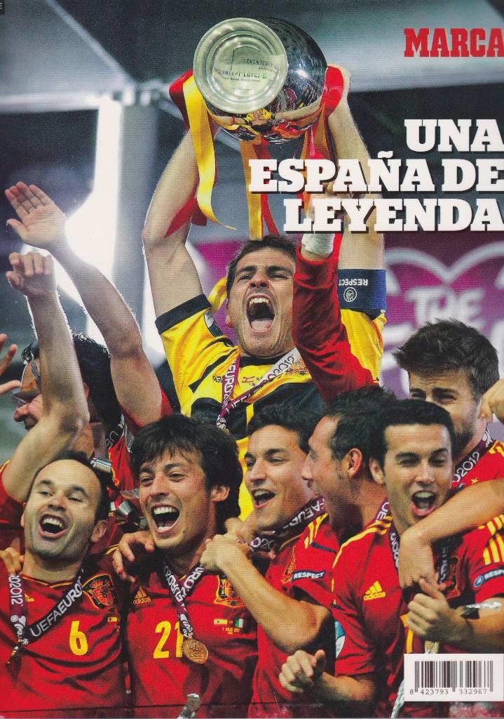 EUROCOPA 2012. REVISTA UNA ESPAÑA DE LEYENDA. DE MARCA (Coleccionismo Deportivo - Revistas y Periódicos - Marca)