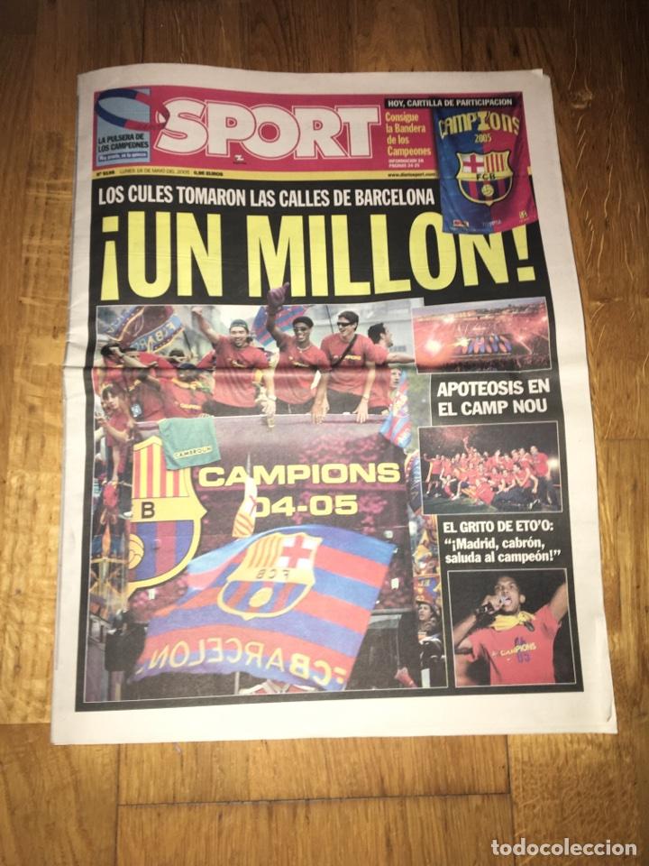 SPORT 16 MAYO 2005 FC BARCELONA BARÇA FIESTA CAMPEÓN LIGA 2004 2005 RONALDINHO ETO'O (Coleccionismo Deportivo - Revistas y Periódicos - Sport)