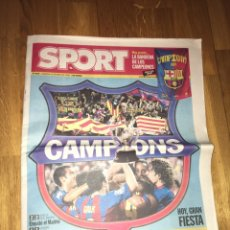 Coleccionismo deportivo: SPORT 15 MAYO 2005 FC BARCELONA CAMPEÓN LIGA 2004 2005 BARÇA RONALDINHO ETO'O. Lote 108023135