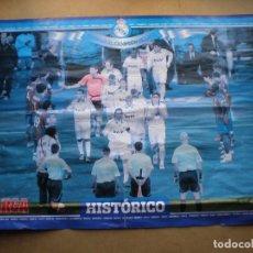Coleccionismo deportivo: POSTER CENTRAL MARCA, PASILLO DEL BARSA AL CAMPEON DE LIGA REAL MADRID 2007 / 2008 HISTORICO,. Lote 108261527