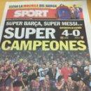 Coleccionismo deportivo: SPORT.N 11107.22/8/2010. FINAL SUPERCOPA. BARCELONA,4-SEVILLA,0. Lote 108310464