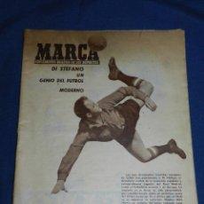 Coleccionismo deportivo: (M) MARCA 1956 NUM 786 - PORTADA DI STEFANO UN GENIO DEL FUTBOL MODERNO, EXTRAODINARIO NAVIDAD. Lote 108463195
