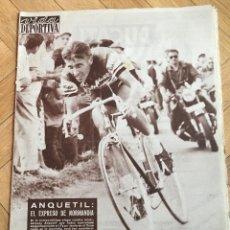 Coleccionismo deportivo: VIDA DEPORTIVA (16-7-1962) ANQUETIL BARCELONA ASUNCION CLUB LIBERTAD SELECCION QUITO ROD LAVER. Lote 180944721