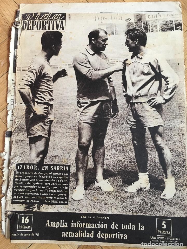 VIDA DEPORTIVA (14-8-1961) CZIBOR BARCELONA VALENCIA SARRIA ESPAÑOL RACING SANTANDER ELCHE (Coleccionismo Deportivo - Revistas y Periódicos - Vida Deportiva)