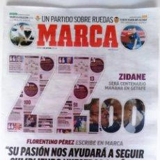 Coleccionismo deportivo: MARCA ZIDANE 100 PARTIDOS COMO ENTRENADOR DE REAL MADRID. Lote 108858087