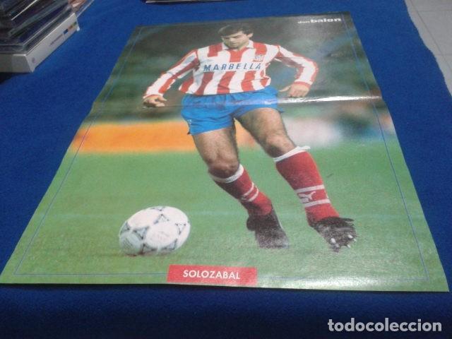 POSTER SOLOZABAL ATLETICO DE MADRID DE LA REVISTA DON BALON (Coleccionismo Deportivo - Revistas y Periódicos - Don Balón)