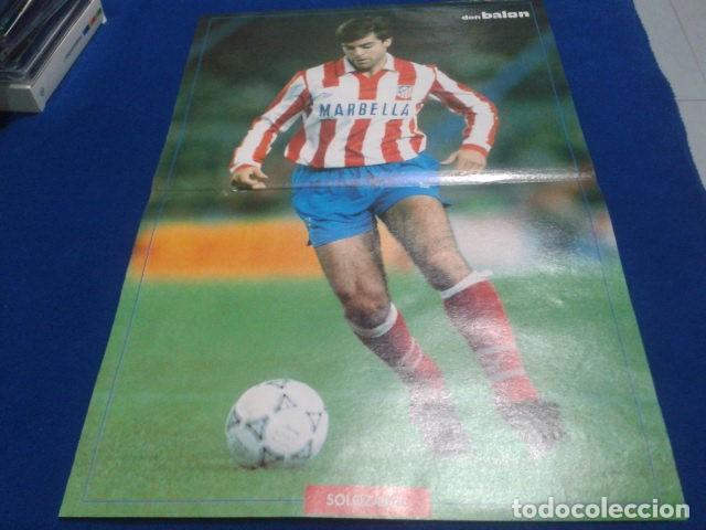 Coleccionismo deportivo: POSTER SOLOZABAL ATLETICO DE MADRID DE LA REVISTA DON BALON - Foto 2 - 109028895