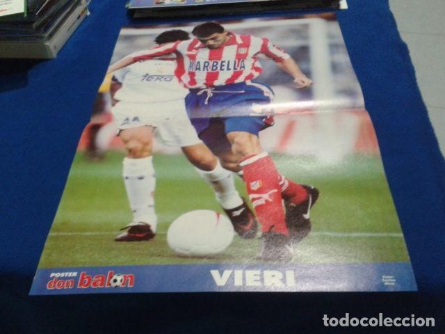POSTER VIERI ATLETICO DE MADRID DON BALON (Coleccionismo Deportivo - Revistas y Periódicos - Don Balón)