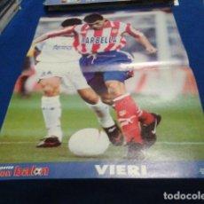 Coleccionismo deportivo: POSTER VIERI ATLETICO DE MADRID DON BALON. Lote 109034895