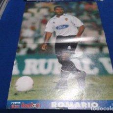 Coleccionismo deportivo: POSTER ROMARIO EN EL VALENCIA DON BALON. Lote 109049959