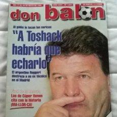 Coleccionismo deportivo: REVISTA DON BALON Nº 1231 - 17 23 MAYO 1999 - TOSHACK - POSTER PARMA CAMPEON UEFA - LEER ESTADO. Lote 109410287