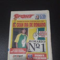 Coleccionismo deportivo: SPORT. N° 5.276. 17/07/1994. FINALÍSIMA DEL MUNDIAL: BRASIL-ITALIA. EL GRAN DIA DE ROMARIO.. Lote 109427530