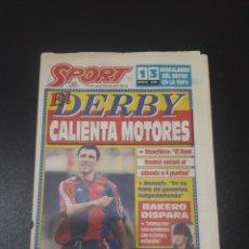 Coleccionismo deportivo: SPORT. N° 5.086. 6/01/1994. STOICHKOV: ' EL REAL MADRID ESTARÁ EL SÀBADO A 4 PUNTOS'.. Lote 109428075
