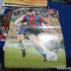 Coleccionismo deportivo: POSTER DON BALON ( FIGO) 98-99 FC BARCELONA. Lote 110083671