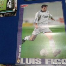 Coleccionismo deportivo: POSTER DON BALON ( LUIS FIGO ) REAL MADRID 2001 / 2002. Lote 110109175