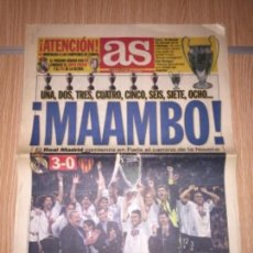 Coleccionismo deportivo: DIARIO AS 25 MAYO DEL 2000 CAMPEONES DE LA OCTAVA. Lote 110123831