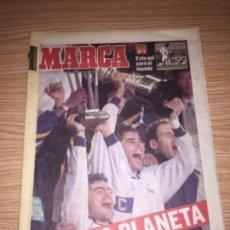 Coleccionismo deportivo: DIARIO MARCA REAL MADRID CAMPEÓN COPA INTERCONTINENTAL 1998. Lote 110130303