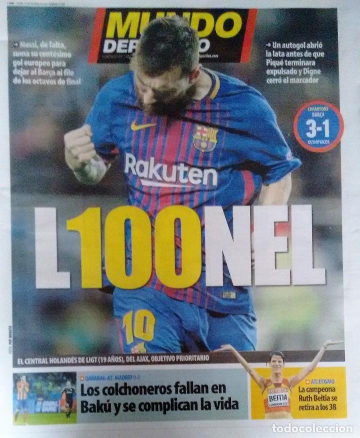 MESSI, 100 GOLES EN EUROPA (Coleccionismo Deportivo - Revistas y Periódicos - Mundo Deportivo)