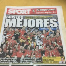 Coleccionismo deportivo: SPORT 30/6/2008. EURO 2008. FINAL. ALEMANIA,0-ESPAÑA,1. Lote 110754410