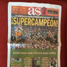 Coleccionismo deportivo: AS (23-8-2014) SUPERCOPA DE ESPAÑA ATLETICO MADRID 1-0 REAL MADRID ADIOS SEXTETE. Lote 110952127