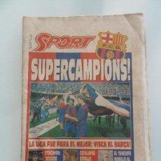 Coleccionismo deportivo: DIARIO SPORT Nº 4514 BARCELONA BARÇA CAMPEON DE LIGA 1992 DREAM TEAM SUPERCAMPIONS. Lote 110969319