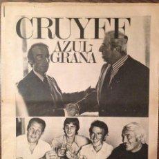 Coleccionismo deportivo: CRUYFF. CRUIJFF. FICHAJE. MUNDO DEPORTIVO PERFECTO ESTADO. Lote 111331939